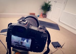 Sida Yoga Zoom Class BTS Behind Scenes Setup Virtual HD High Quality Online Practice Training 1 to 1 Private Group Online