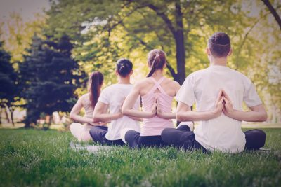 Sida Yoga Dorchester Park Bandstand Morning Before Work Private Classes Workshop Class Tuition Teacher Session Outdoor Outside Sunrise